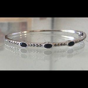 Judith Jack marcasite hinged bangle bracelet